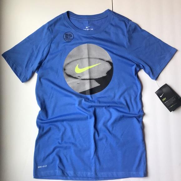 08cfd6e59 Nike Shirts & Tops | New Boys Blue Basketball Drifit Shirt Top L ...